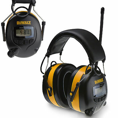 Digital AM/FM Hearing Protector Earmuffs With Radio Mowing Work Headphone LCD