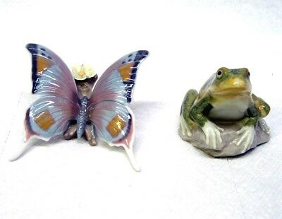 Beautiful Lladro Summer Pond - Frog And Butterfly Figurine Pair Ref. #7801