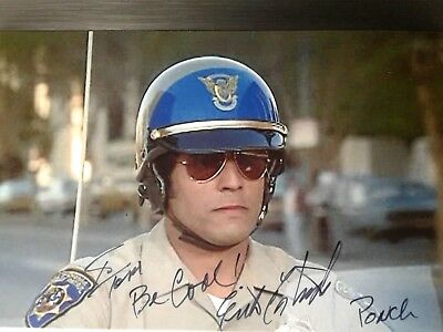 Erik Estrada Hand Signed  4X6 Photo - CHIPS TV STAR  -To Tom -COOL INSCRIPTION