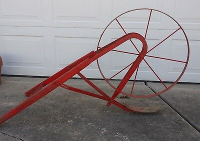 Antique Push Behind Cultivating Garden Plow Old Farm Tool