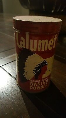 Vintage Calumet baking powder tin. Good condition, needs cleaning.