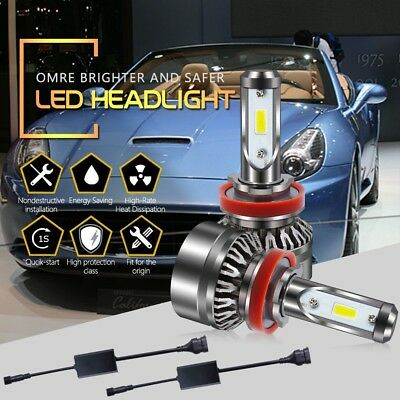 H8 H9H11 LED Headlight Kit White 6000LM Low Beam Bulb For 2010-2016 Toyota Prius