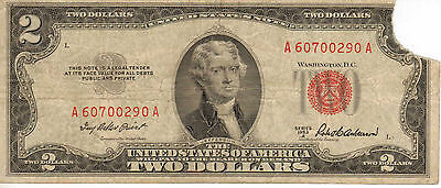 1953-A US Note, Red Seal, Medium Grade Note (R-197)