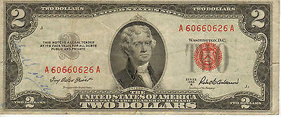 1953-A US Note, Red Seal, Medium Grade Note (R-191)