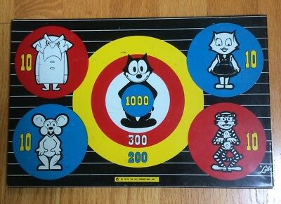 Felix the Cat: Vintage Metal Target Board Featuring Felix the Cat and others