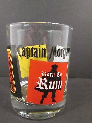 Captain Morgan Rum Rocks Drinking Glass Great Graphics