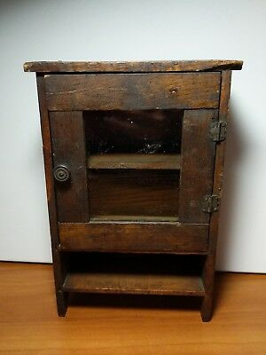 Vintage Wooden American Folk Primitive Miniature Child's Chest Of Drawers