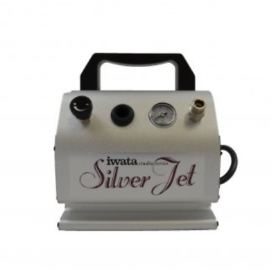 IWATA Quiet SILVER JET AIR COMPRESSOR w/ AIRBRUSH HOSE Tanning Hobby Makeup Nail