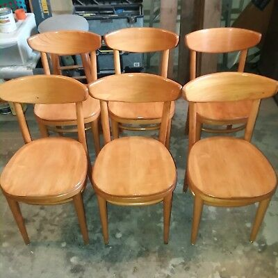 Thonet mid century hardwood cafe chairs and drop leaf table