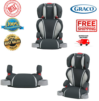 Graco High Back Booster Car Seat Kid Child Baby Toddler Chair Backless black