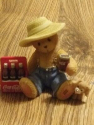 Dewey Bear Coke cola trinket.Enjoy your friendsThey're the refreshments of life.
