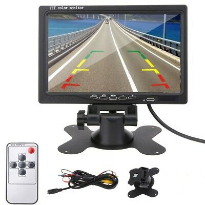 """7"""" TFT LCD Color Monitor Car Rear View Headrest DVD VCR Monitor 2 Video Input US"""