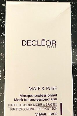 New & Boxed Decleor Salon Mate & Pure Purifying Masks 10 -Oily/combination Skin