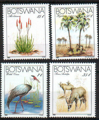 Botswana 1983 Endangered Species 4W # 329-332