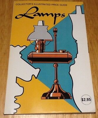Vintage 1977 Lamps Collector's Illustrated Price Guide Footed Brass Glass Wicker