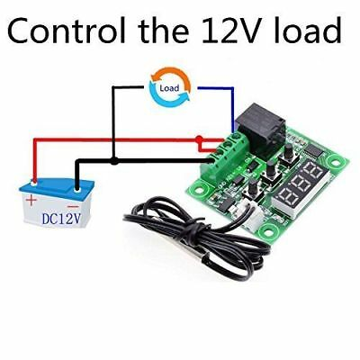 W1209 Digital Display Thermostat Control Module With DIY Acrylic Case Shell Kit