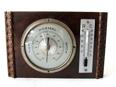 Wetterstation aus Holz & Glas, Thermometer, Thermostat