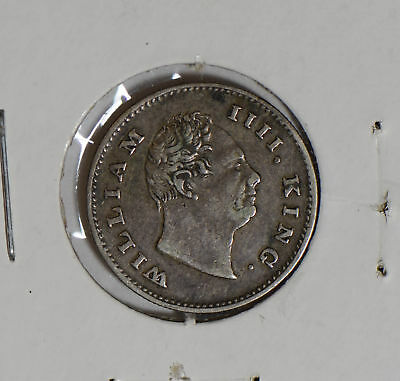 British India 1835 east india co. 1/4 Rupee silver  I0410 combine shipping