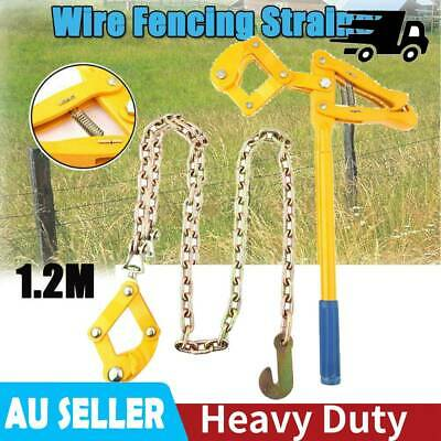 Heavy Duty Wire Fence Strainer Plain Barbed Chain Fencing Energiser Repair Tool