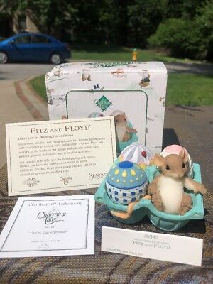 """Charming Tails """"You're Egg-Ceptional"""" DEAN GRIFF NIB Easter- Eggcrate Mouse"""