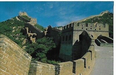 """Vintage Post Card:""""the Great Wall"""" China  ~  Posted To Darwen Lancs 1996"""