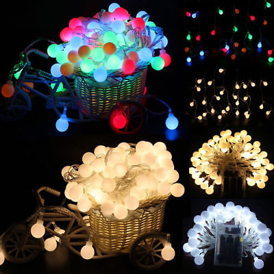 Fairy LED String Lights Christmas Round Ball Blubs Wedding Party Lamp 3M 10M New