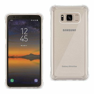 Reiko Samsung Galaxy S8 Active Clear Bumper Case Air Cushion Protection In Clear