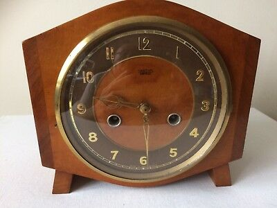 Vintage Mayflower smiths Enfield clock 50s Refurbished Case Serviced Excellent