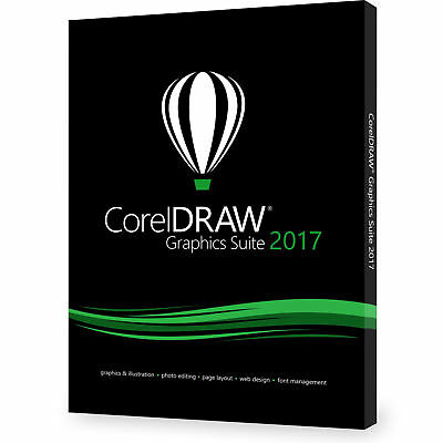 CorelDRAW 2017 Full Box Edition (not upgrade or educational) Brand New
