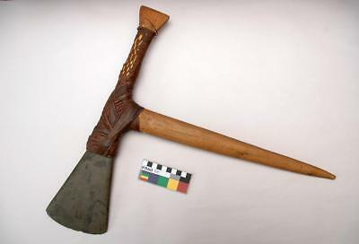 Old Vintage Papua New Guinea Mount Hagen Axe with Unusual Stone Blade