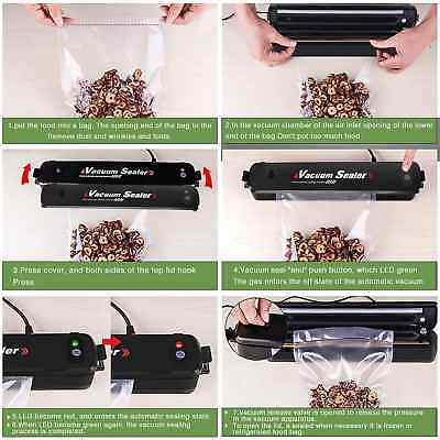 Portable Vacuum Automatic Air Sealing System for Vaccum Packing with 15pcs Bags