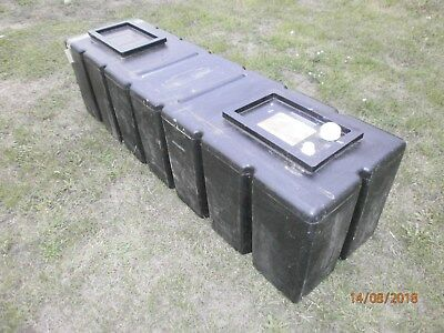 Black plastic water storage tank, 165x50x50cm feed expansion Collect Herts only!