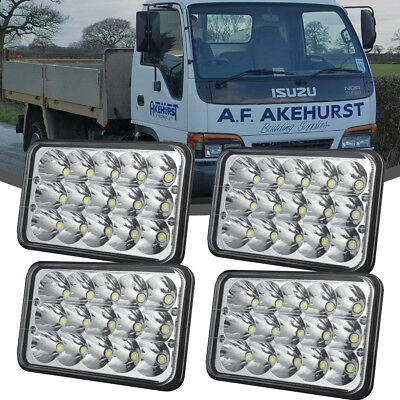 """DOT Approved 4pc 4x6"""" Led Projector Headlight For Freightliner Kenworth T800"""