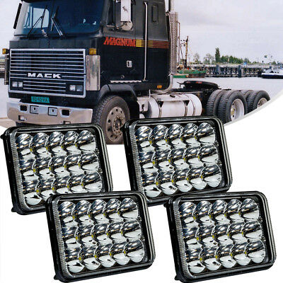 "4x6""inch LED Headlight Hi-Lo Sealed Beam For Rectangle Peterbilt Kenworth T800"