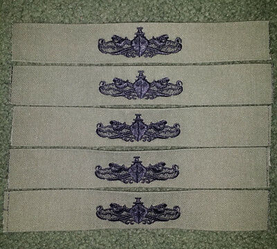 US Navy Enlisted Surface Warfare Specialist ESWS Subdued Patch (Lot of 5)