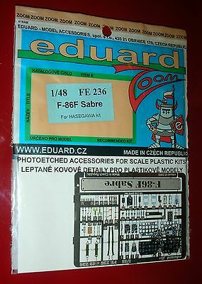 EDUARD 1/48 Photoetched  FE 236 F-86F Sabre For HASEGAWA Kit. NEW