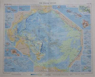 A stunning Pacific Ocean map by John Bartholomew