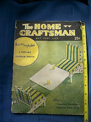 ANTIQUE Magazines THE HOME CRAFTSMAN 1930's Collection of 2