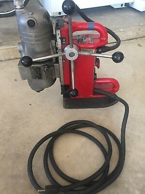 Awesome Milwaukee Electromagnetic Drill Press, Motor #4297-1, Base #4202