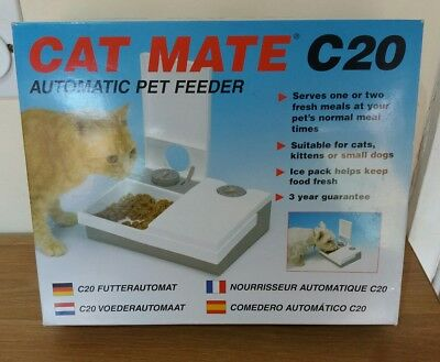 Cat Mate C20 Cat Small Dog Pet Automatic Feeder With Ice Pack