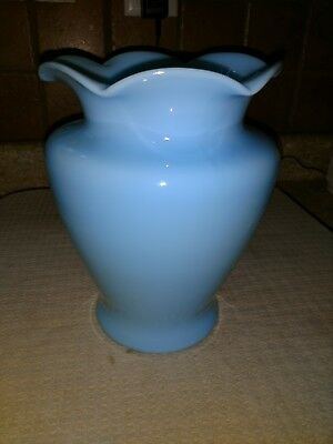 Cambridge Glass Co. 8 inch Azurite Vase