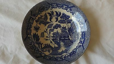 """Vintage Antique Japanese  Blue and White  Bowl 5 1/4""""  CL23-29"""