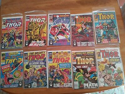 Lot OF TEN OLD THOR comics!   Most Higher Grade, some GIANT LOKI and KEY!  Lot 7