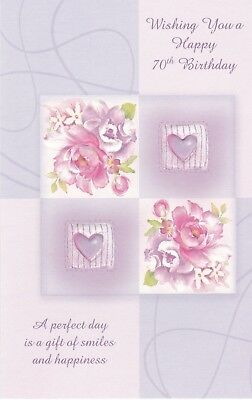 Birthday Card with Envelope 70th