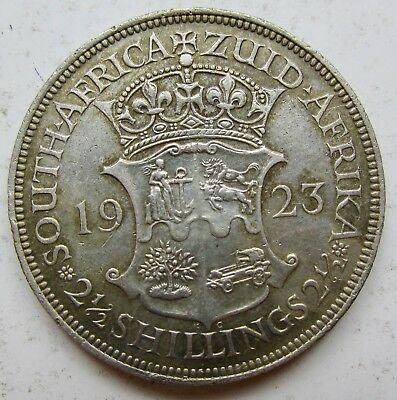 1923 South Africa Silver 2 1/2 Shillings George V