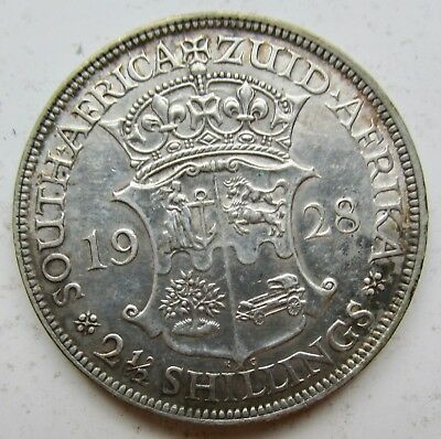 1928 South Africa Silver 2 1/2 Shillings George V