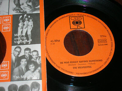 """THE VELVELETTES 7"""" He was really saying something D CBS 1714 TOP"""