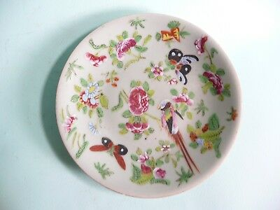 19th century Chinese Celadon Famille Rose Plate......ref.1223