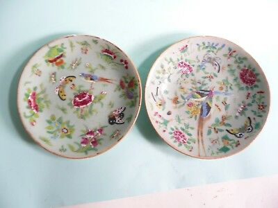 19th century Chinese Celadon Famille Rose Plates......ref.1225