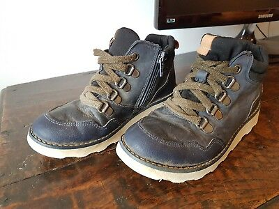 Boys Clarks 12G Gore-tex zip up (and lace) blue waterproof walking boots